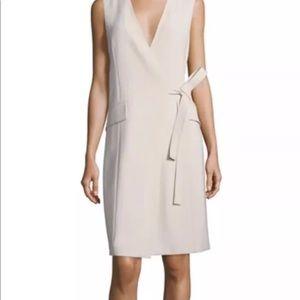 New Theory tan khaki wrap dress size 4
